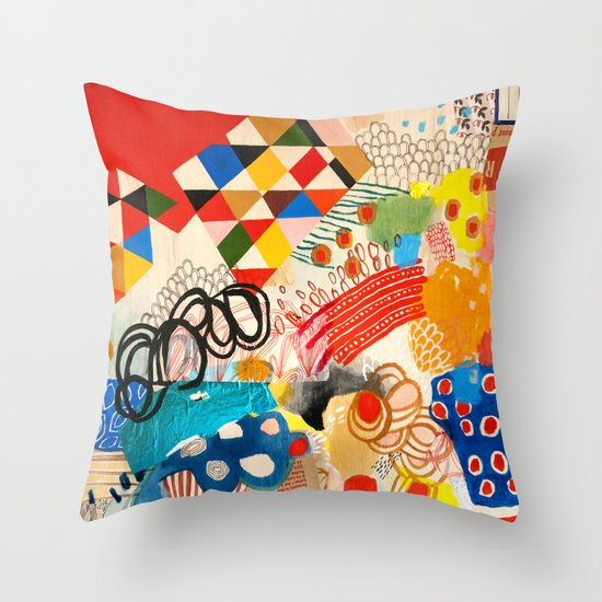 Wallpaper and Diamonds Part I Throw Pillow