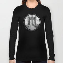 Brooklyn Bridge New York City (black & white badge emblem) Long Sleeve T-shirt