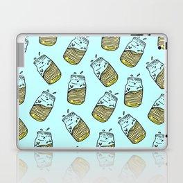 Cute Lemonade Mason Jar Summer Drink Teal Pattern Laptop & iPad Skin