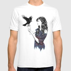 Dark Wings 2X-LARGE White Mens Fitted Tee