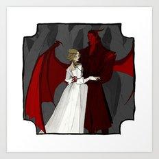 The Demon and the Princess Art Print