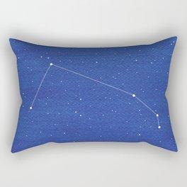 Aries Constellation, Mountains Rectangular Pillow