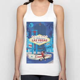 Vegas Baby by Art of Scooter Mid Century Modern inspired art and merchandise  Unisex Tank Top