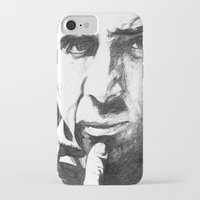 nicolas cage iPhone & iPod Cases featuring Nicolas Cage by DeMoose_Art