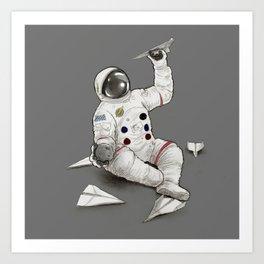 Astronaut in Training Art Print
