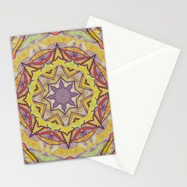 Eight-pointed star - mandala Stationery Cards