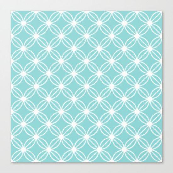 Abstract Circle Dots Mint Canvas Print