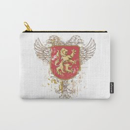 Coat of Arms Shield - Griffin Seal - Crown Lion and the Mark Carry-All Pouch
