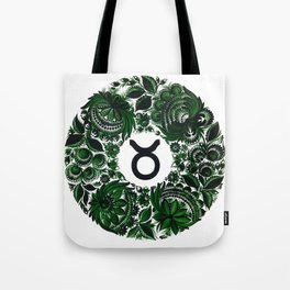 Taurus in Petrykivka Style (without artist's signature/date) Tote Bag