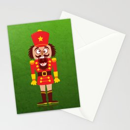 A Christmas nutcracker breaks its teeth and goes nuts Stationery Cards