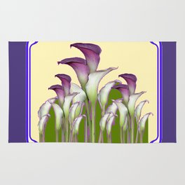 ART NOUVEAU CALLA LILIES PURPLE MODERN ART DESIGN Rug