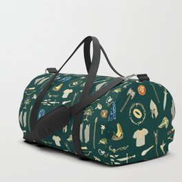 Lord of the pattern green Duffle Bag
