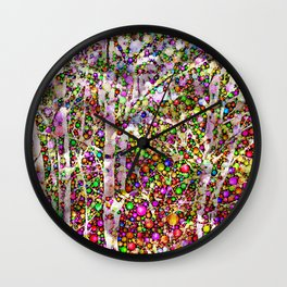 Frosty Christmas Branches Wall Clock