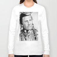native american Long Sleeve T-shirts featuring Native American by chomaee