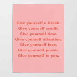 Give yourself... Poster