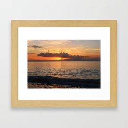 A Cayman Sunset Framed Art Print
