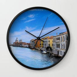 Venice, Italy Canels right before twilght Wall Clock