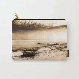 Picnic Table on the Beach Carry-All Pouch