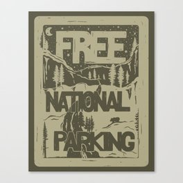 PRKNG Canvas Print
