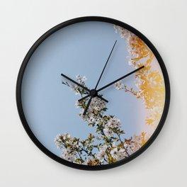 Spring Flowers III Wall Clock