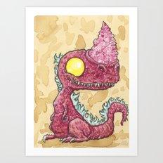 Baby Burntroxodon Art Print