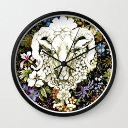 Spring Goat Original Watercolor Wall Clock
