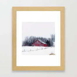 Iowa Barn Framed Art Print