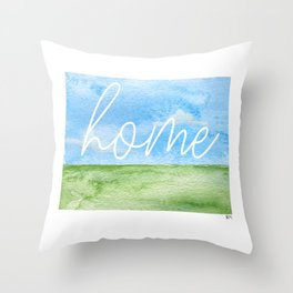 Wyoming Home State Throw Pillow