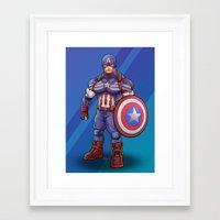 steve rogers Framed Art Prints featuring Steve Rogers by Levi Cleeman