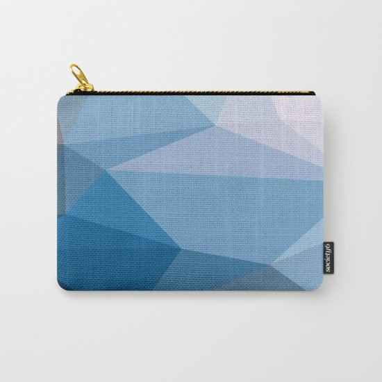 Shades Of Blue Triangle Abstract Carry-All Pouch