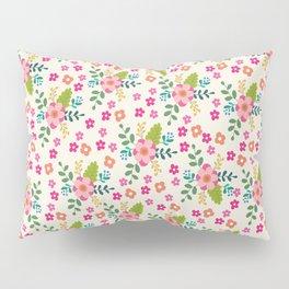 Pink Fuchsia Spring Flower Pattern Pillow Sham