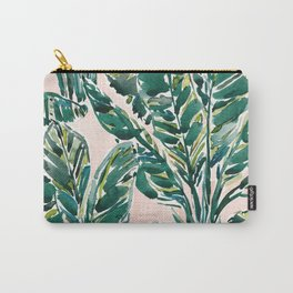 BIG FEELINGS Banana Leaf Tropical Carry-All Pouch