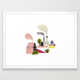 Small City Stories Framed Art Print