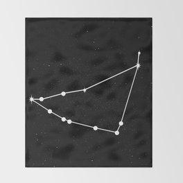 CAPRICORN (BLACK & WHITE) Throw Blanket