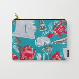 Vintage 1950's Kitchenalia Carry-All Pouch