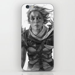 Warrior 2 Black and White iPhone Skin