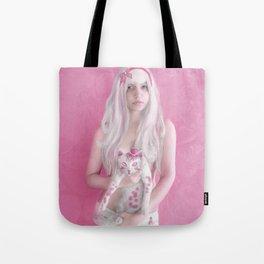 Little Gray Cat Tote Bag