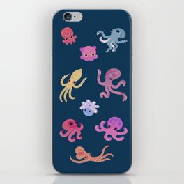Octopus - dark iPhone Skin