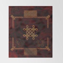 Celtic knote, vintage design Throw Blanket