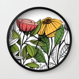 First summer blooms Wall Clock