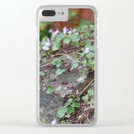 Creeping Flowers Clear iPhone Case