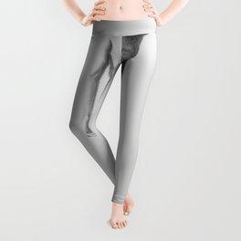 Nude Woman in High Heels Pencil Drawing Leggings