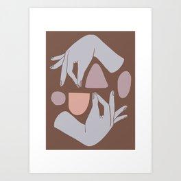 Handy Shapes Art Print