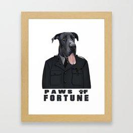 Paws of Fortune Framed Art Print