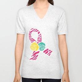 Endometriosis Ribbon 4 Unisex V-Neck