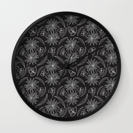 Linear African drawing pattern Wall Clock