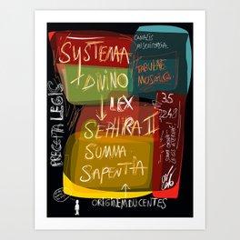 Graffiti Street Art Systema Divino Lex  Art Print