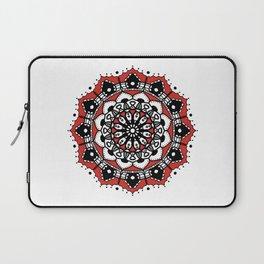 Black Red Crown Mandala Laptop Sleeve