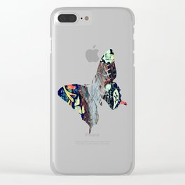 Cow Skull Floral Clear iPhone Case