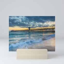 The Pier at Sunset, Seal Beach Mini Art Print